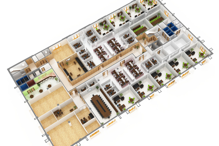 Free work space planning design corporate interiors for Office space planning